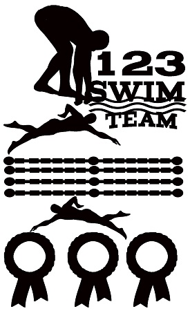 Swim team  110 x 180mm